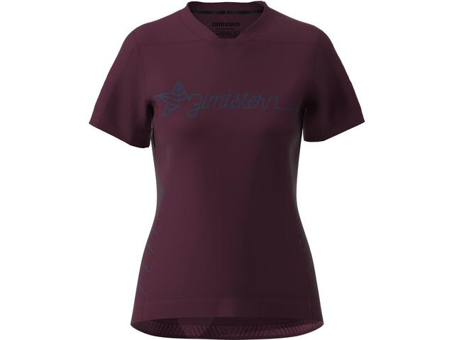 Zimtstern EcoFlowz SS Shirt Women, windsor wine/french navy